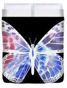 Watercolor Butterfly On Black V Duvet Cover