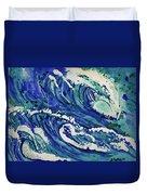 Watercolor - Ocean Wave Design Duvet Cover