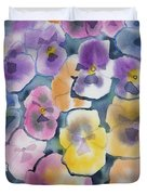 Watercolor - Pansy Design Duvet Cover