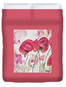 Watercolor - Poppy Portrait Duvet Cover