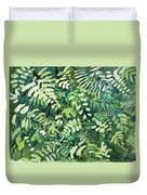 Watercolor - Rainforest Canopy Design Duvet Cover