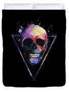 Watercolor Skull Design For Women Duvet Cover