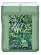 Watercolor - Tree Frog Design Duvet Cover by Cascade Colors