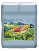 Watercolor - Wilson Mesa Landscape Impression Duvet Cover