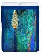 Watery Abstract Xviii - Women And Candles Duvet Cover