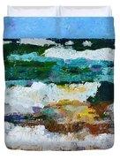 Waves Crash - Painting Version Duvet Cover