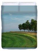 Waves Of Grass Duvet Cover by Davor Zerjav