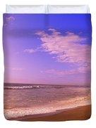 Waves On The Beach, North Beach, Point Duvet Cover