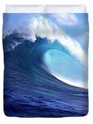 Waves Splashing In The Sea, Maui Duvet Cover