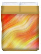 Wavy Colorful Abstract #5 - Yellow Orange Duvet Cover by Patti Deters