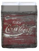 Weathered Coca Cola Sign Duvet Cover