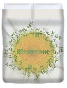 Welcome - Bienvenue Duvet Cover