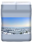 Western Lake In The Hills Duvet Cover