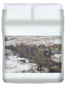Western Edge Winter Hills Duvet Cover