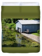 Westport Harbour In Southern Ontario Duvet Cover