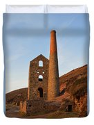Wheal Coates Mine Chapel Porth Cornwall Duvet Cover