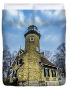 White River Lighthouse Duvet Cover