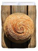 White Sourdough Spiral Duvet Cover