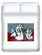 White Swans Duvet Cover