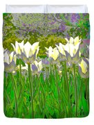 White Tulips Duvet Cover