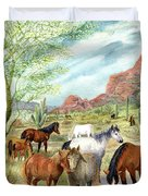 Wild And Free Forever Duvet Cover