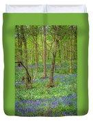 Wild Garlic And Bluebells Duvet Cover