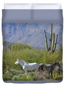 Wild Horses Tonto National Forest Duvet Cover