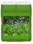Wildflowers On Green's Hills Duvet Cover