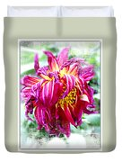 Wilted Dahlia. Duvet Cover