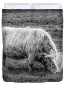 Windblown In Scotland Black And White Duvet Cover