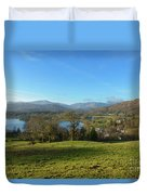 Windermere With Loughrigg Fell And The Langdales From Ambleside Duvet Cover