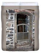 Window Below Duvet Cover by Ann E Robson