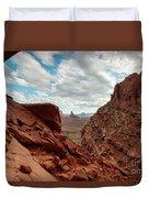 Window On The Desert Duvet Cover