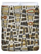 Wine Corks At An Angle Abstract Duvet Cover
