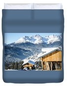 Winter Landscape On The Italian Dolomites Duvet Cover