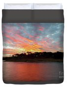 Winter Morning Sky Duvet Cover
