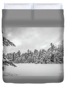 Winter Storm Anderson Pond Duvet Cover