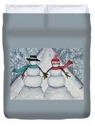 Winter Stroll Duvet Cover