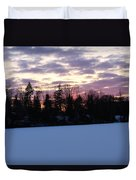Winter Sunsets Duvet Cover