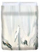 Winter Trees And Sky Duvet Cover