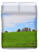 Winter Wheat In October In Southern Ontario Duvet Cover