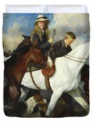 With The York And Ainsty, The Children Of Mr Edward Lycett Green Duvet Cover