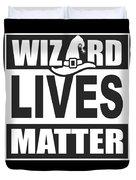 Wizard Lives Matter Retro Halloween Sorcerer Dark Duvet Cover