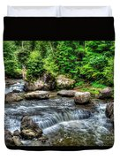 Wolf Creek Falls, New River Gorge, West Virginia Duvet Cover