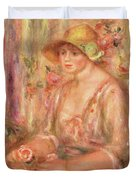 Woman In Muslin Dress, 1917 Duvet Cover