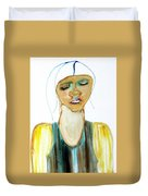 Woman On Trial Duvet Cover
