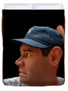 Wood Carving - Babe Ruth 002 Profile Duvet Cover