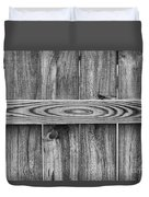 Wood Grain Black And White Duvet Cover
