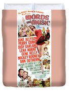 Word And Music 1948 Film Duvet Cover