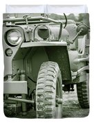 World War II Era Us Army Jeep Duvet Cover